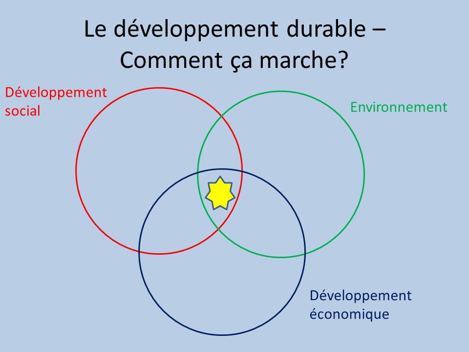 Le développement durable – Comment ça marche.