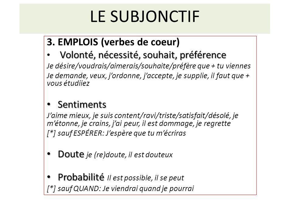 LE SUBJONCTIF 4.