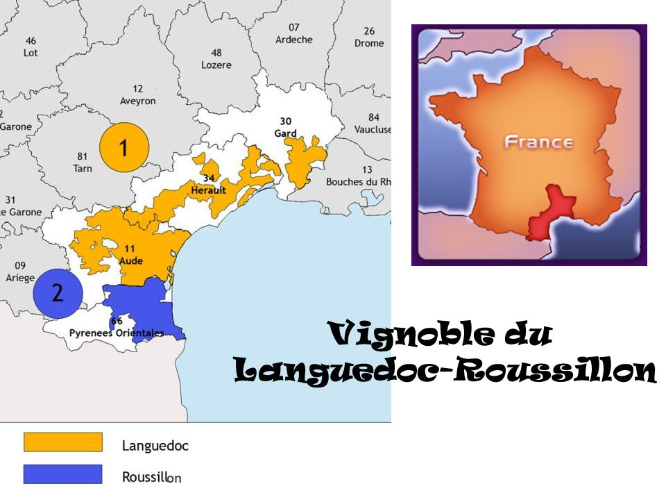 Vignoble du Languedoc-Roussillon on