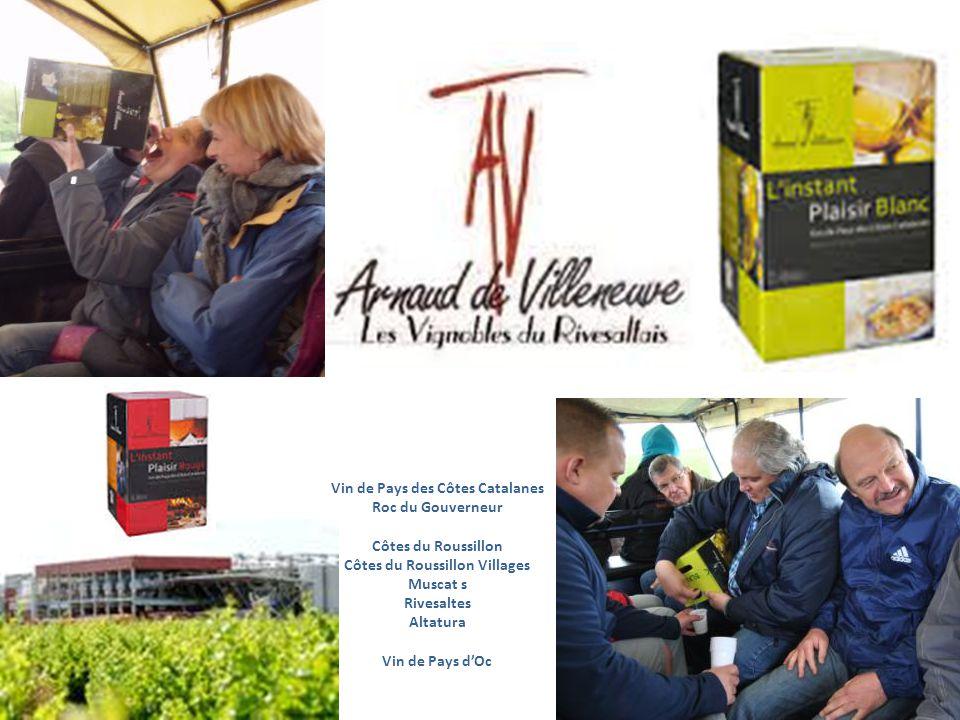 Vin de Pays des Côtes Catalanes Roc du Gouverneur Côtes du Roussillon Côtes du Roussillon Villages Muscat s Rivesaltes Altatura Vin de Pays dOc Macabeu Grenache blanc Syrah, Grenache Noir, Mourvèdre
