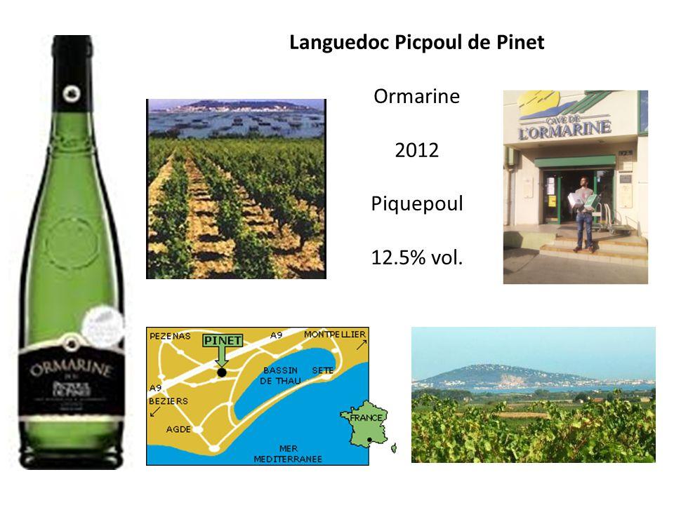 Languedoc Picpoul de Pinet Ormarine 2012 Piquepoul 12.5% vol. 2 orthographes