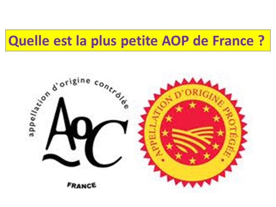 Quelle est la plus petite AOP de France ?