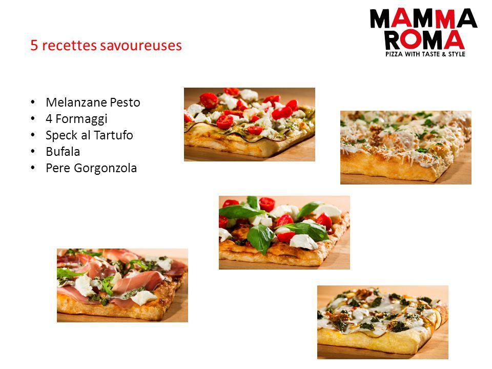 5 recettes savoureuses Melanzane Pesto 4 Formaggi Speck al Tartufo Bufala Pere Gorgonzola