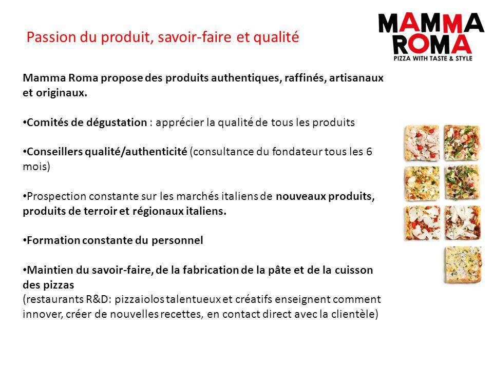 Passion du produit, savoir-faire et qualité Mamma Roma propose des produits authentiques, raffinés, artisanaux et originaux. Comités de dégustation :