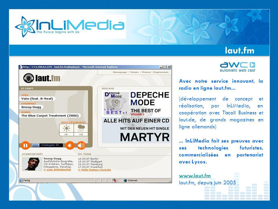 laut.fm Avec notre service innovant, la radio en ligne laut.fm...