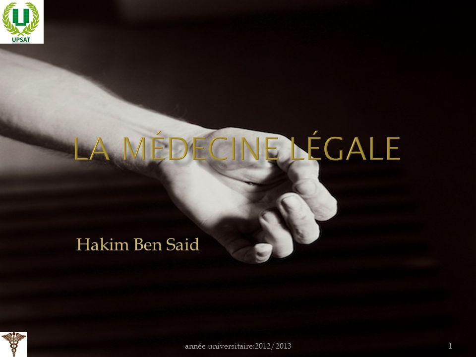année universitaire:2012/20131 Hakim Ben Said