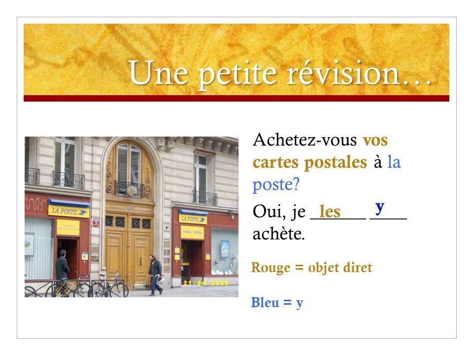 Une petite révision… Achetez-vous vos cartes postales à la poste.