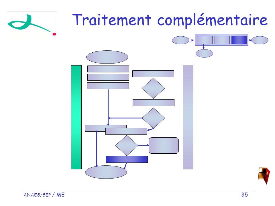 ANAES/SEP / ME 35 Traitement complémentaire