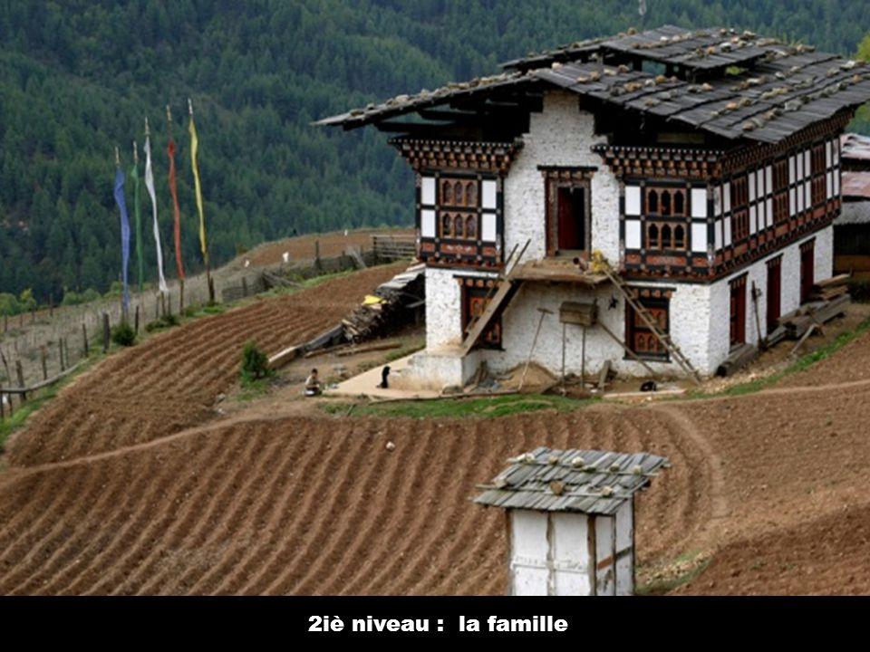 Maison traditionnelle bhoutanaise 1 er niveau : le bétail