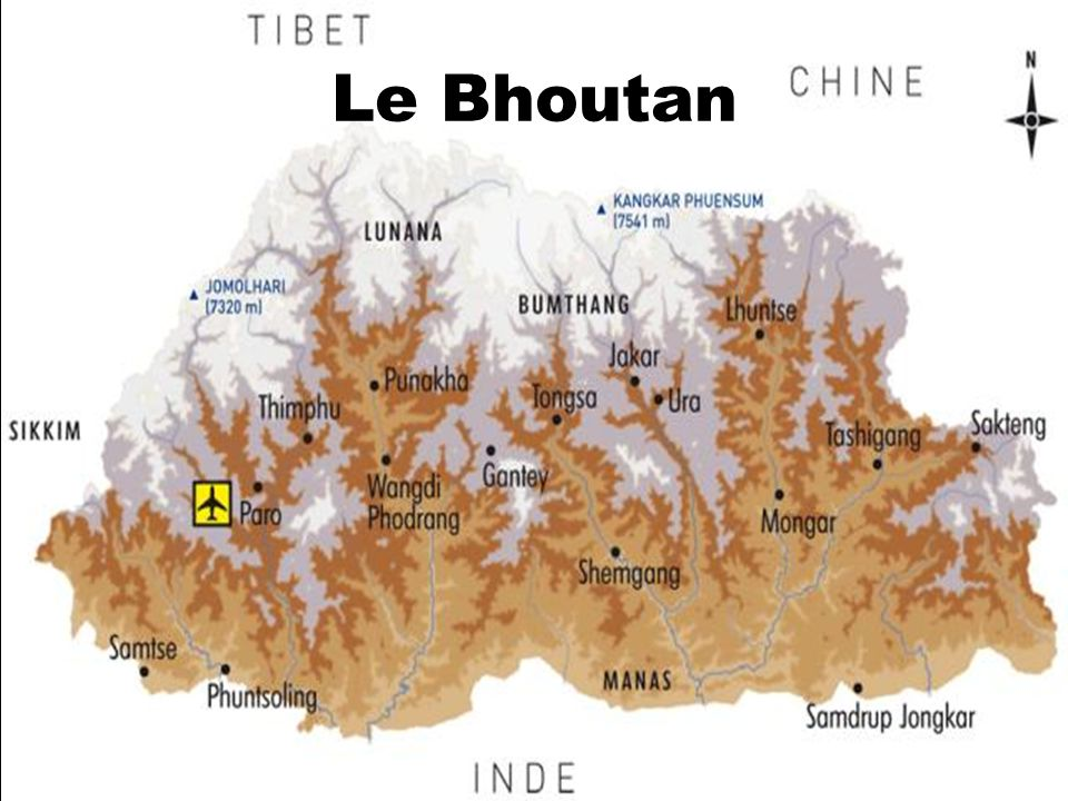 Le bonheur national brut Au Bhoutan le bonheur humain est un indice économique..