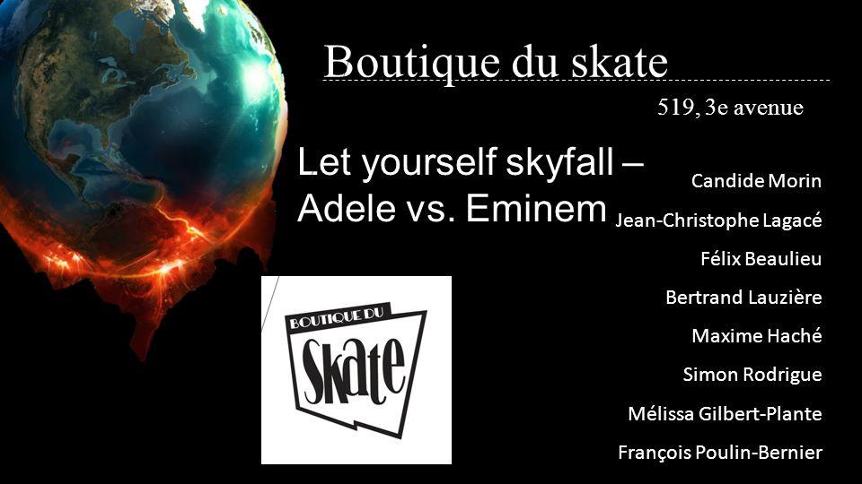 Boutique du skate 519, 3e avenue Candide Morin Jean-Christophe Lagacé Félix Beaulieu Bertrand Lauzière Maxime Haché Simon Rodrigue Mélissa Gilbert-Pla