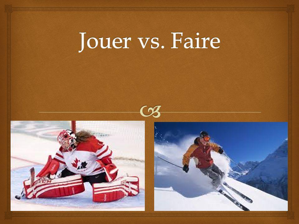 Réponses 1. Il a fait du surf des neiges. 2. Ils ont joué au hockey.