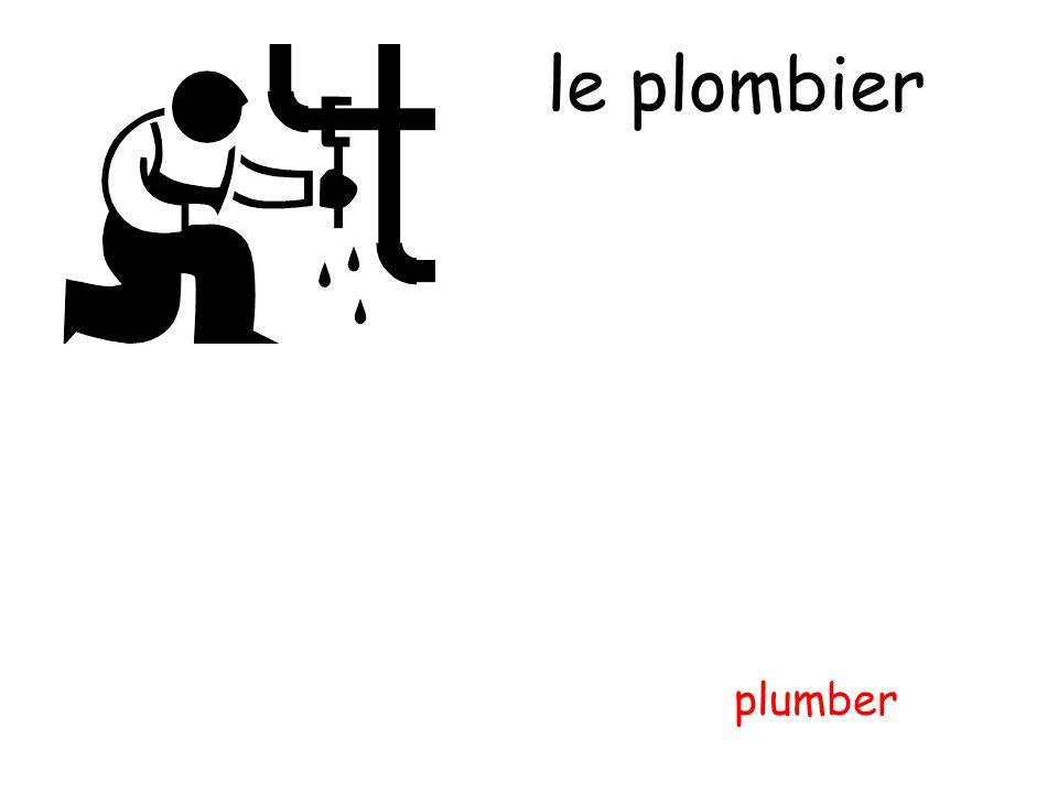 le plombier plumber