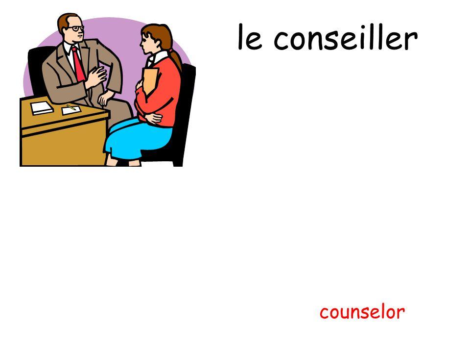 le conseiller counselor