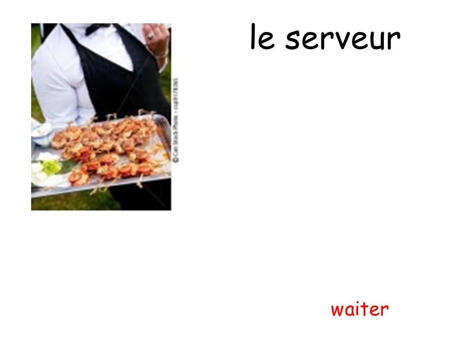 le serveur waiter