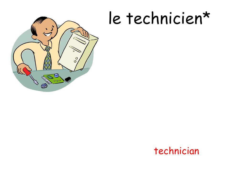 le technicien* technician