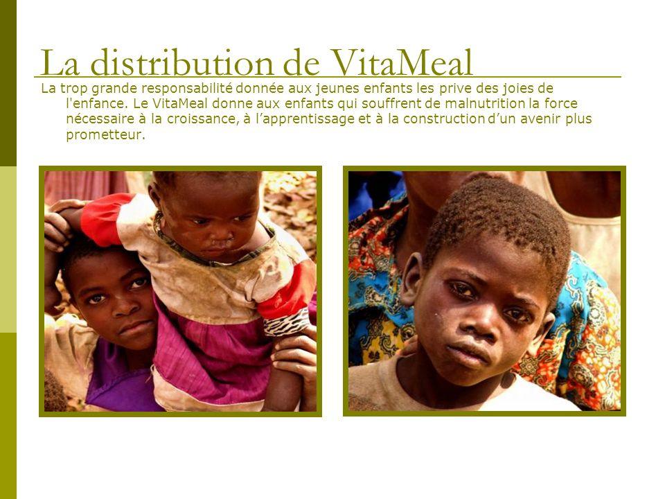 La trop grande responsabilité donnée aux jeunes enfants les prive des joies de l'enfance. Le VitaMeal donne aux enfants qui souffrent de malnutrition