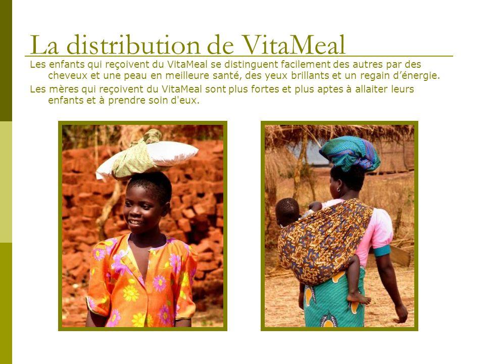 Les enfants qui reçoivent du VitaMeal se distinguent facilement des autres par des cheveux et une peau en meilleure santé, des yeux brillants et un re