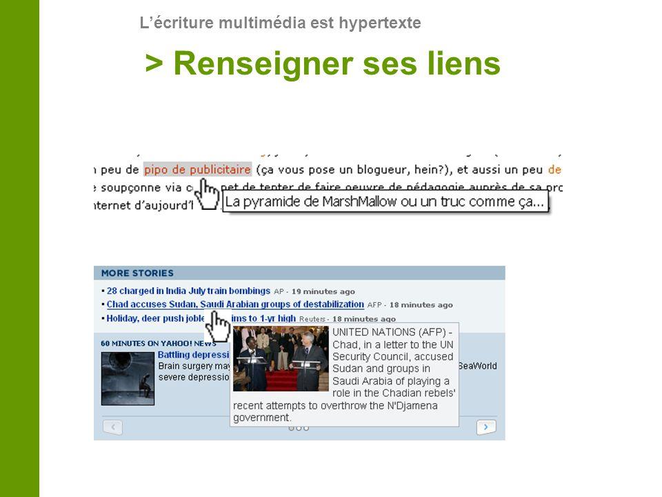 Lécriture multimédia est hypertexte > Renseigner ses liens