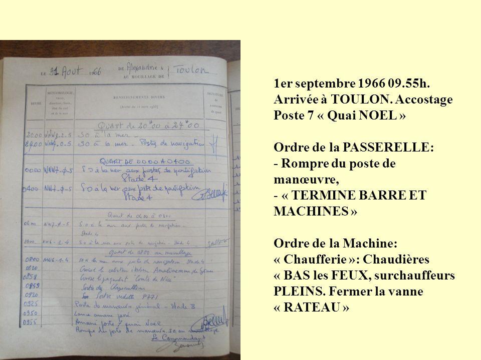 28 août 1966 09.02h. Appareillage pour TOULON