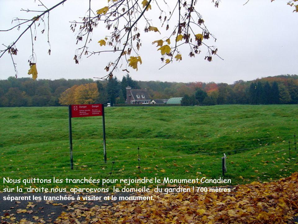 Tranchées allemande Tranchées Canadienne