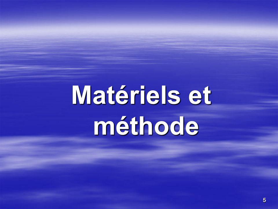 5 Matériels et méthode