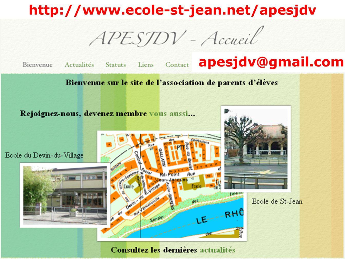http://www.ecole-st-jean.net/apesjdv apesjdv@gmail.com
