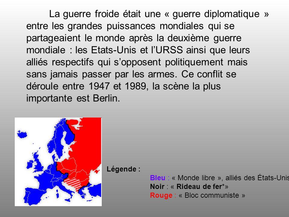 Les vainqueurs de la Seconde guerre mondiale se partagent lAllemagne en quatre zones doccupation et sa capitale en quatre secteurs.