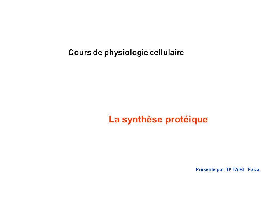 H CH C N CH 2 H O C OH H2NH2N Acide aminé (tryptophane Aminoacyl ARNsynthétase Spécifique du tryptophane ARNt spécifique du tryptophane (ARNt Trp ) A C C Liaison du tryptophane à ARNt Trp Liaison du ARNt Trp au codon H O C O H2NH2N CH C N CH 2 H A C C H O C O H2NH2N CH C N CH 2 H A C C UG G 5`3` Diagramme montrant comment lenzyme aminoacyl-ARNt synthétase couple un acide aminé particulier à lARNt qui lui correspond et la méthionine dARNt qui se lie à la séquence nucléotidique appropriée sur lARNm