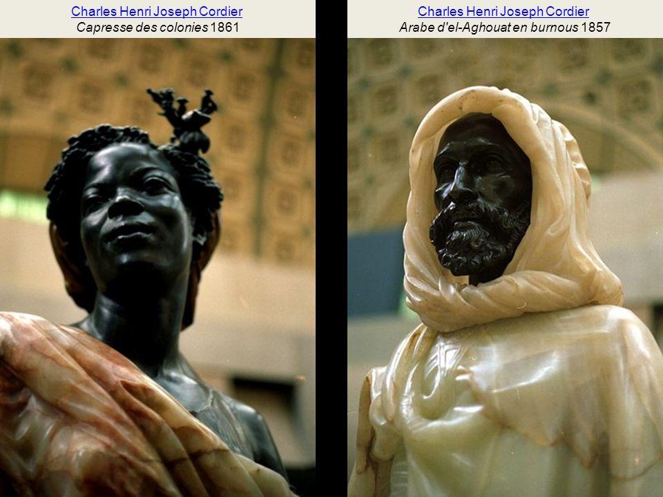 Eugène GuillaumeEugène Guillaume, Anacréon, 1849-1851, marbre Charles CordierCharles Cordier, Nègre du Soudan, 1857