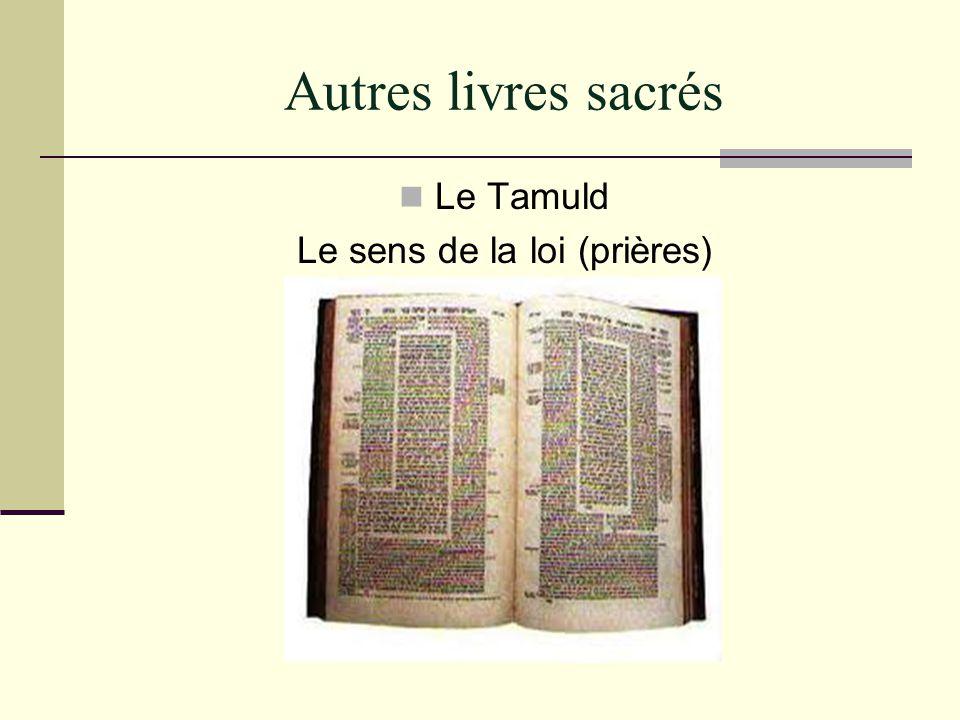 Autres livres sacrés Le Tamuld Le sens de la loi (prières)