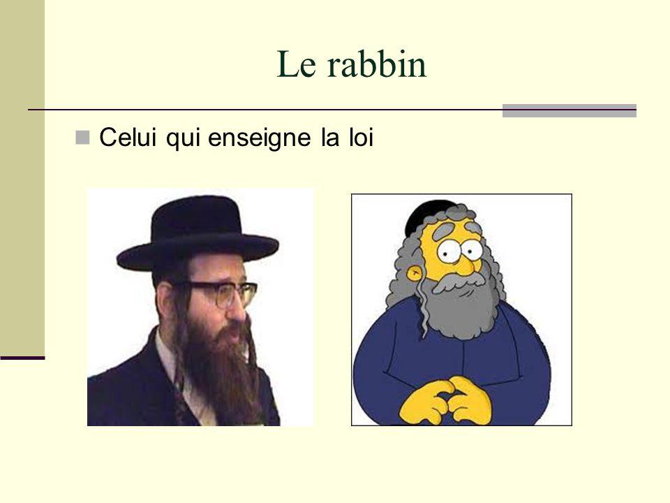 Le rabbin Celui qui enseigne la loi