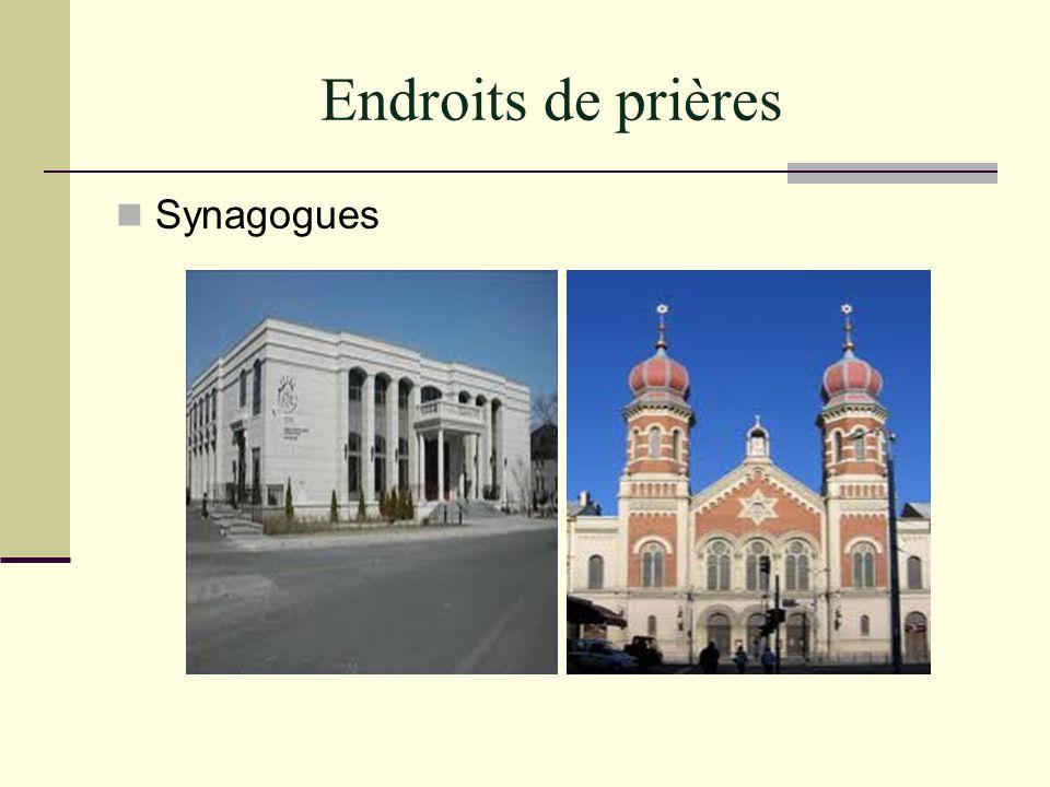 Endroits de prières Synagogues
