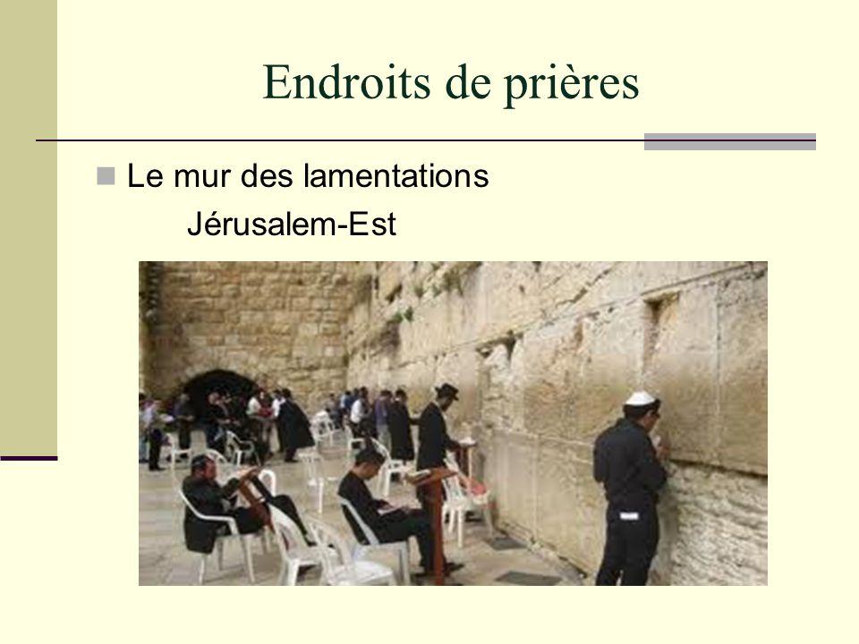 Endroits de prières Le mur des lamentations Jérusalem-Est
