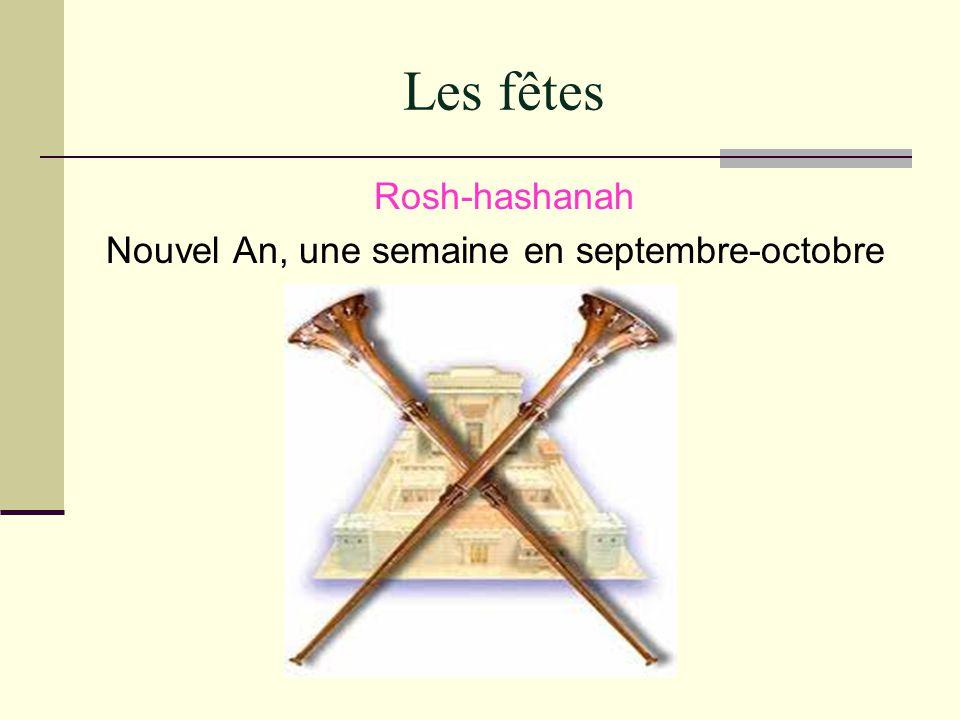 Les fêtes Rosh-hashanah Nouvel An, une semaine en septembre-octobre