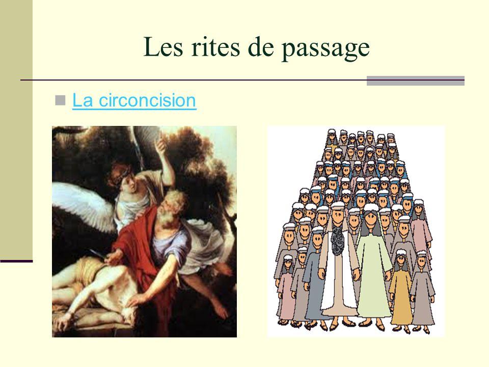 Les rites de passage La circoncision