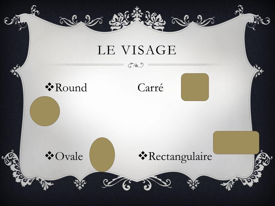 LE VISAGE Round Ovale Carré Rectangulaire
