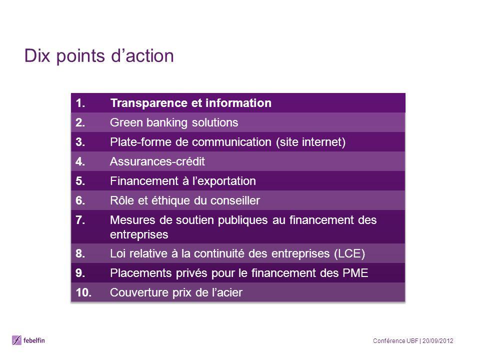 Dix points daction Conférence UBF | 20/09/2012