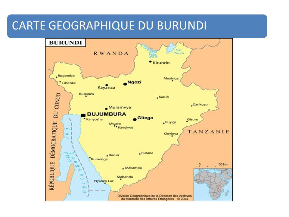 CARTE GEOGRAPHIQUE DU BURUNDI