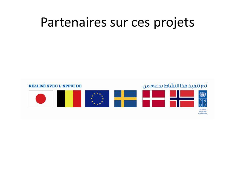 Partenaires sur ces projets