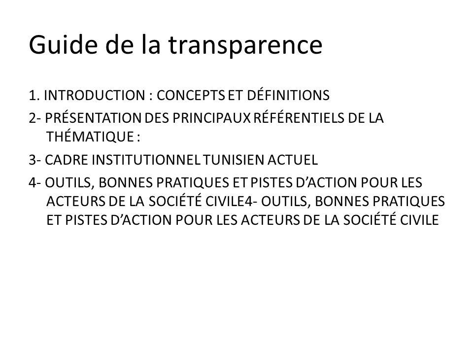 Guide de la transparence 1.