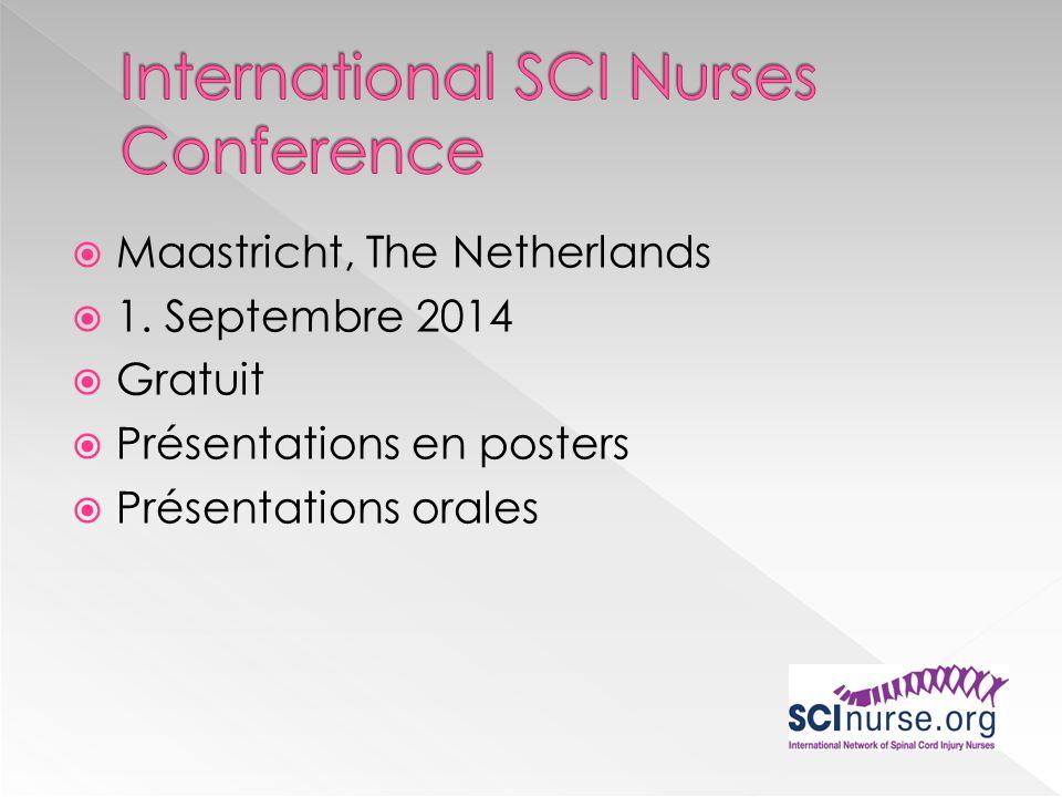 Maastricht, The Netherlands 1. Septembre 2014 Gratuit Présentations en posters Présentations orales