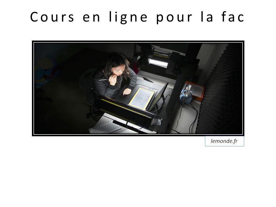 Cours en ligne pour la fac lemonde.fr