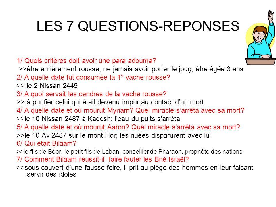LES 7 QUESTIONS-REPONSES 1/ Quels critères doit avoir une para adouma.