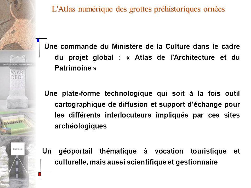 L'Atlas numérique des grottes préhistoriques ornées Une commande du Ministère de la Culture dans le cadre du projet global : « Atlas de l'Architecture