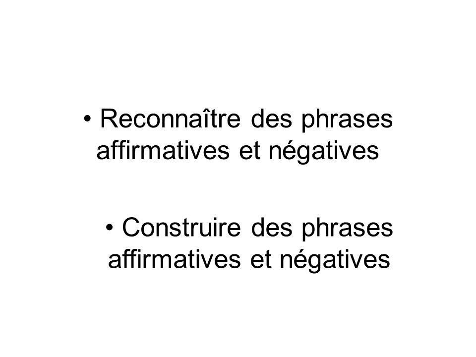 Rappel Les types de phrases