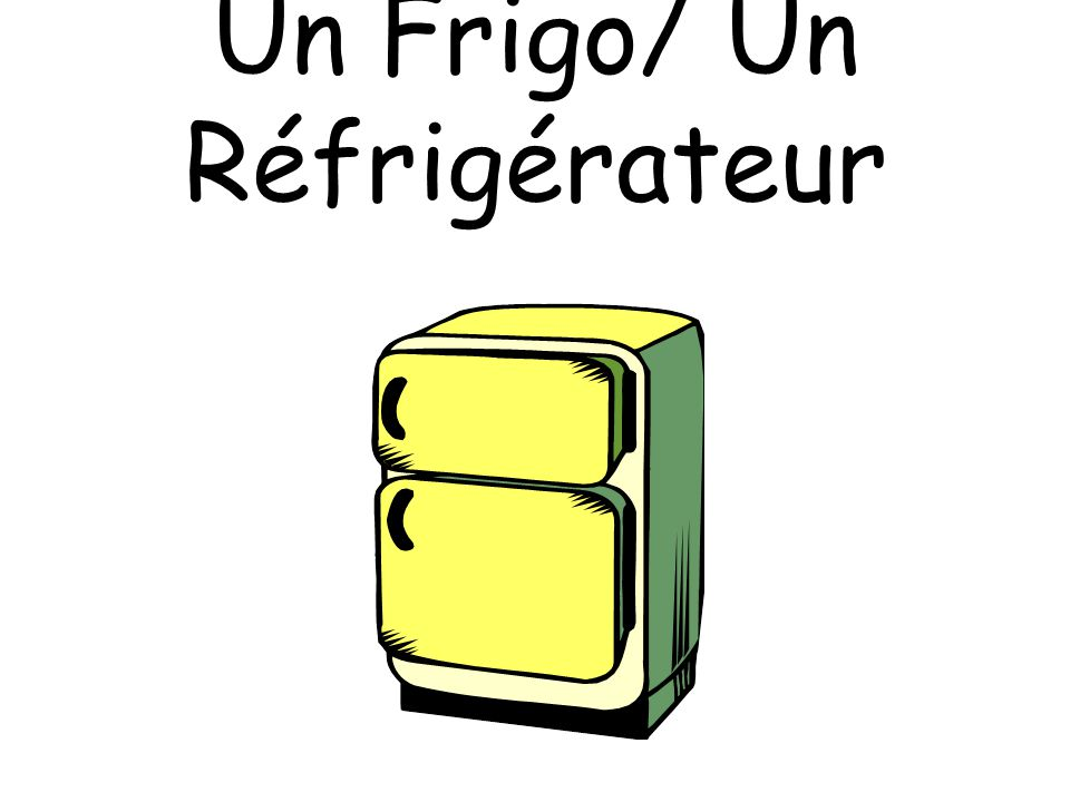Un Frigo/ Un Réfrigérateur
