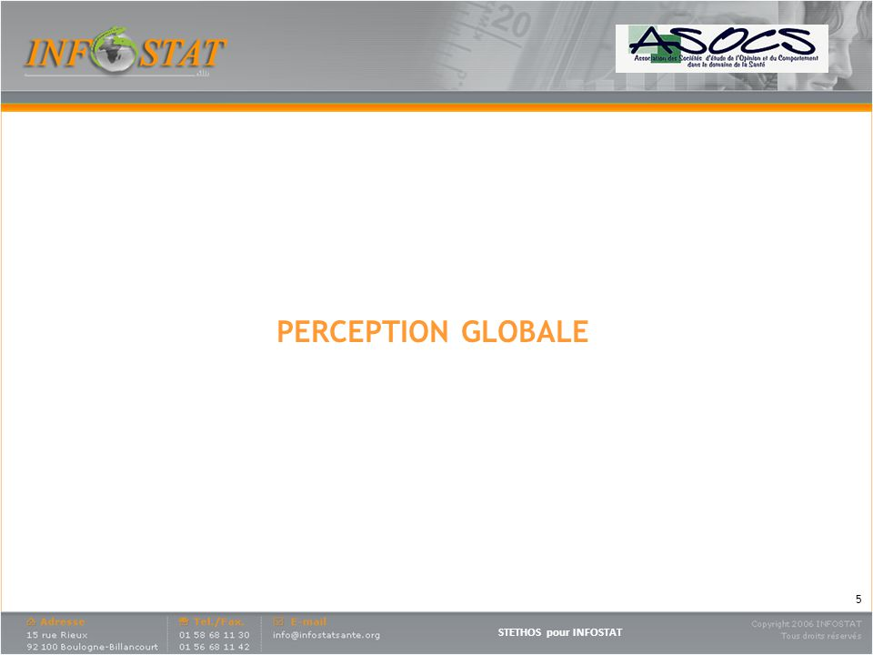 STETHOS pour INFOSTAT PERCEPTION GLOBALE 5