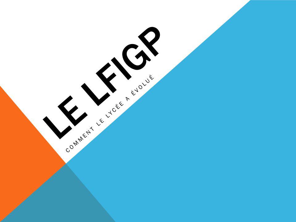 LE LFIGP COMMENT LE LYCÉE A ÉVOLUÉ