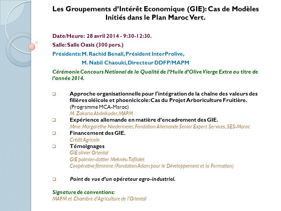La Dimension Genre dans la Politique Agricole: La Dimension Genre dans la Politique Agricole: Cas du Plan Maroc Vert Date/Heure: 29 avril - 9:30-12:30.